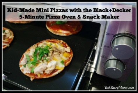 Kid-Made Mini Pizzas with the Black+Decker 5-Minute Pizza Oven & Snack Maker on TechSavvyMama.com