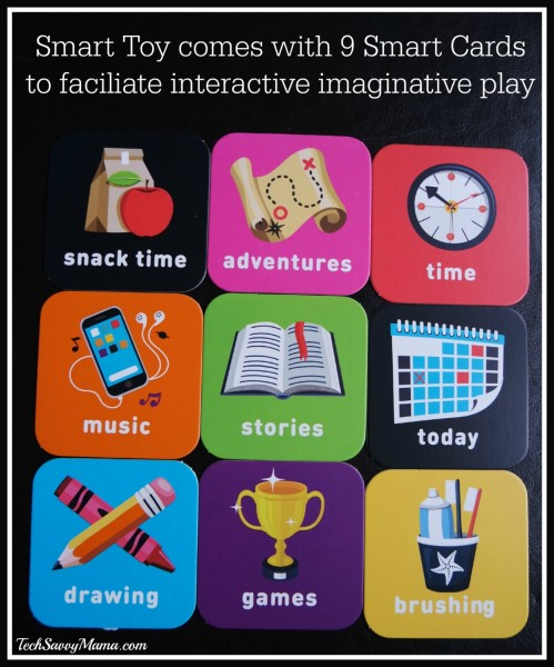 Smart Toy comes with 9 Smart Cards to facilitate interactive imaginative play