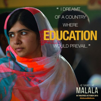 He Named Me Malala - Education Quote