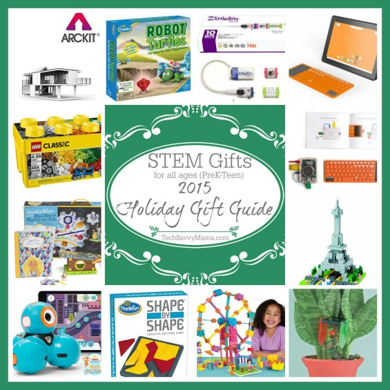 2015 Holiday Gift Guide: Best STEM Gifts for All Ages (preK-teen) on TechSavvyMama.com