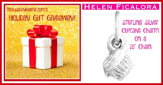 """TechSavvyMama.com Holiday Giveaway: Silver Cupcake Charm on an 18"""" Chain from Helen Ficalora"""