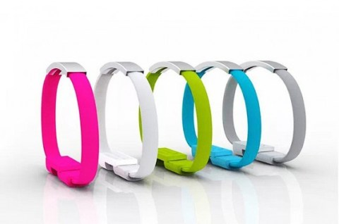 Set of 5 Micro USB Charging Bracelets Under $10 from Amazon