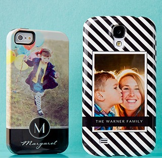 Personalized iPhone cases from Tiny Prints featured on TechSavvyMama.com's 2015 Best Gifts for Moms