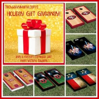 TechSavvyMama.com's Holiday Gift Giveaway: Custom Cornhole Set from Victory Tailgate
