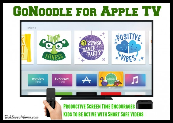 GoNoodle for Apple TV: Productive Screen Time Encourages Kids to be Active with Short Safe Videos
