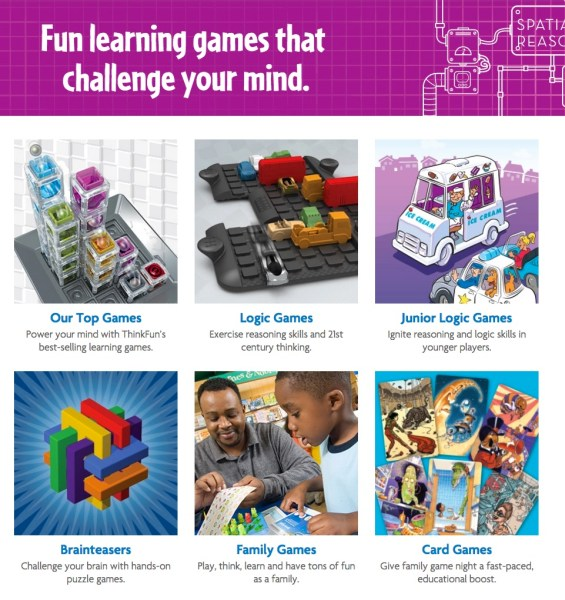ThinkFun Game Categories