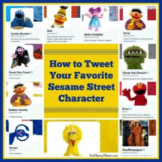 How to Tweet Your Favorite Sesame Street Characters