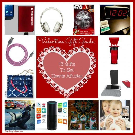 Valentine's Day Gift Guide- 13 Gifts to Set Their Heart Aflutter on TechSavvyMama.com
