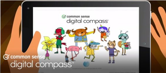 Common Sense Media Digital Compass Game for Elementary Ages. Info on TechSavvyMama.com