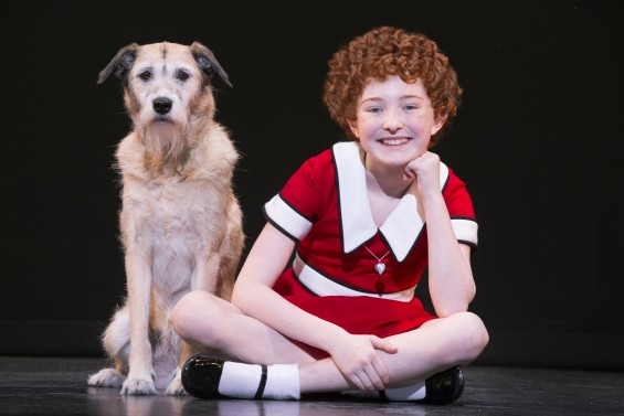 Heidi Gray as Annie and Macy as Sandy in Annie at the National Theatre March 15 – 20, 2016. www.thenationaldc.com © Joan Marcus