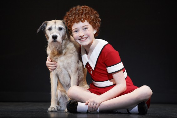 Macy as Sandy and Heidi Gray as Annie in Annie at the National Theatre March 15 – 20, 2016. www.thenationaldc.com © Joan Marcus