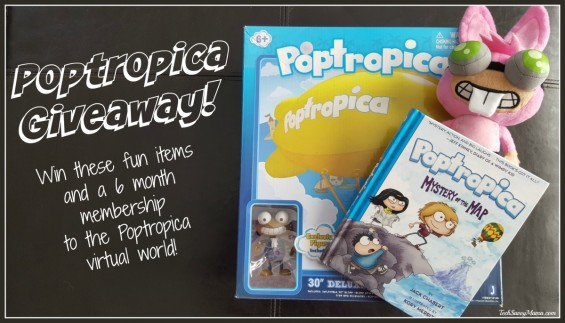 Poptropica Giveaway for Poptropica: Mystery of the Map and more goodies that young fans will love on TechSavvyMama.com