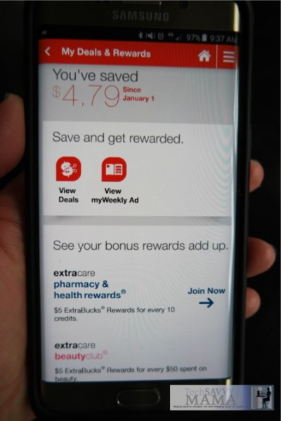 7 Reasons Why I Love Using the CVS Pharmacy App: Rewards Always Available Through the App. More details on TechSavvyMama.com #MyCVSApp