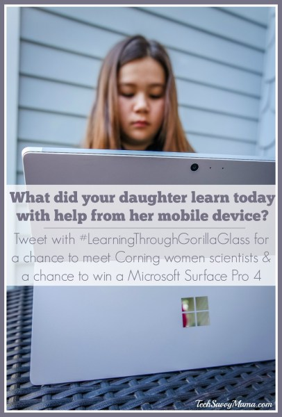 What did your daughter learn today with help from her mobile device? #LearningThroughGorillaGlass