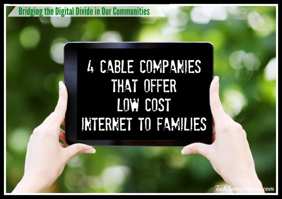 4 Cable Companies That Offer Low Cost Internet to Qualifying Families on TechSavvyMama.com