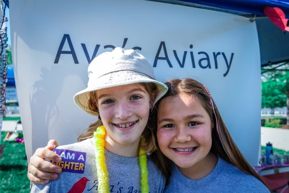 Ribbon Barrette for Research founders, Ava and Emily, at the Cystic Fibrosis Foundation's Great Strides DC Walk © 2016, Leticia Barr All Rights Reserved — TechSavvyMama.com