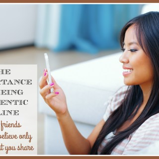 The Importance of Being Authentic Online (even if friends choose to believe only part of what you share) #AuthenticME