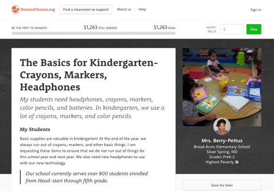 A teacher's basic supply request on DonorsChoose.org. Learn how you can support this classroom on TechSavvyMama.com