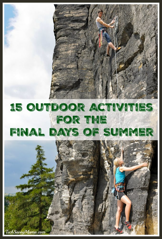 15 Outdoor Activities for the Final Days of Summer. Ideas and pinboard on TechSavvyMama.com