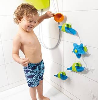 Bathtub Ball Track Set by HABA ($19.99) is a 2016 TechSavvyMama.com gift guide pick for toddlers and preschoolers.