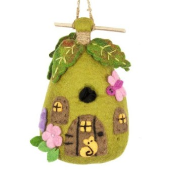 Felt Birdhouse Fairy Cottage from The Red Sari ($20) is a 2016 TechSavvyMama.com gift guide pick for toddlers and preschoolers.