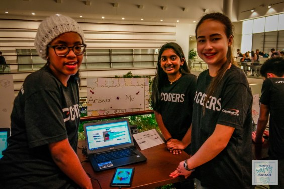 C1 Coders demonstrate apps at Capital One Headquarters, McLean, Virginia