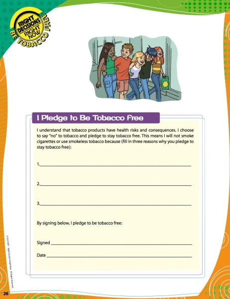 8 Steps for Teaching Middle Schoolers Not to Smoke Using Right Decisions, Right Now Materials