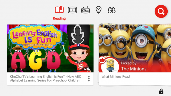 Read Along with YouTube Kids