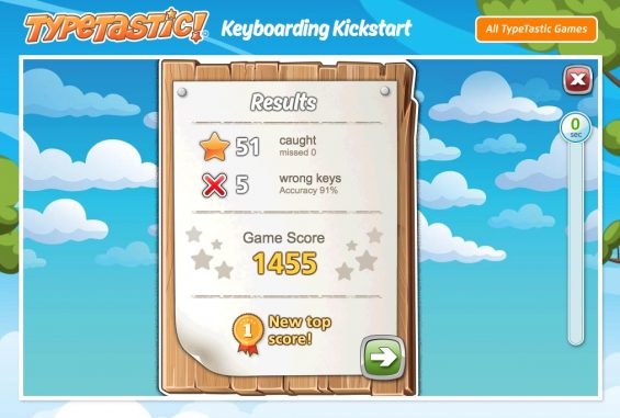 how to use typetastic to teach elementary kids to type