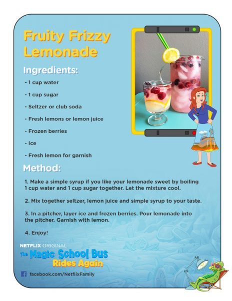 The Magic School Bus Rides Again Fruity Frizzy Lemonade Recipe
