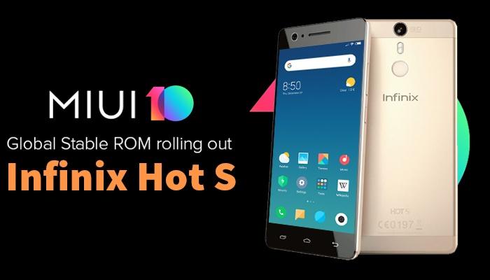 [MT6753] MIUI 10 Global V8.10.11 Custom ROM For Infinix Hot S