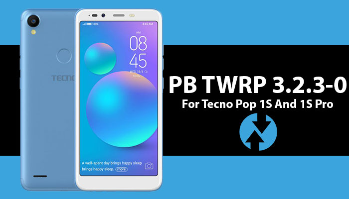 TWRP custpm recovery for Tecno Pop 1S (F4) and 1S Pro