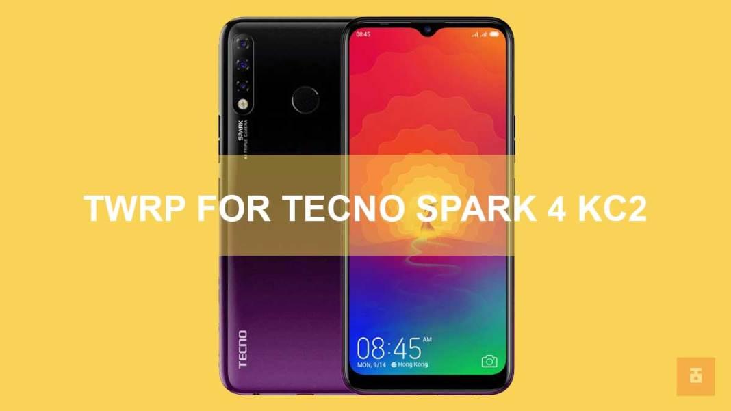 TWRP For Tecno Spark 4 KC2