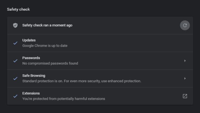 Chrome safety check 4