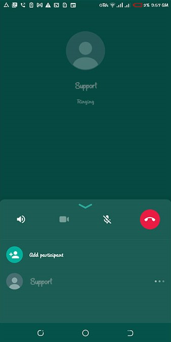 Add participant button in WhatsApp calling