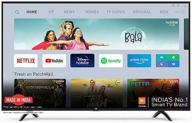 Mi TV 4X 55 Inches Ultra HD is one of the cheap & best smart tv in India