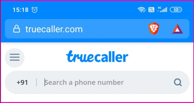 استخدام truecaller في المتصفح