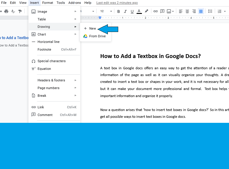How to insert Textbox in Google Docs? [Complete Guide]