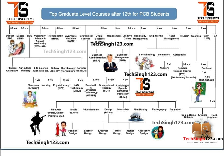 top graduate level courses after 12th