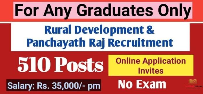NIRDPR Recruitment 2020-2021 राष्ट्रीय ग्रामीण विकास एवं पंचायती राज संस्थान