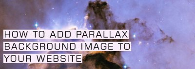 How to Add Parallax Background Image