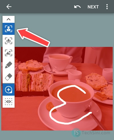 DSLR blur effect with AfterFocus step 1