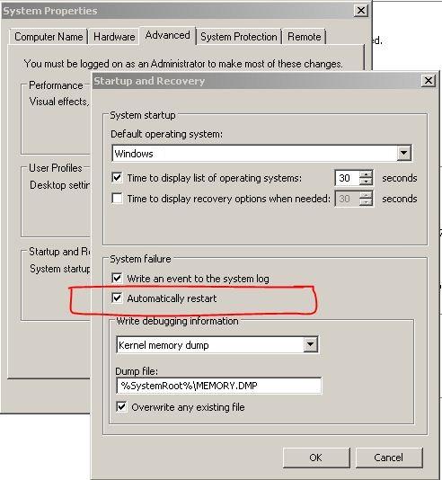 restarts Automatically