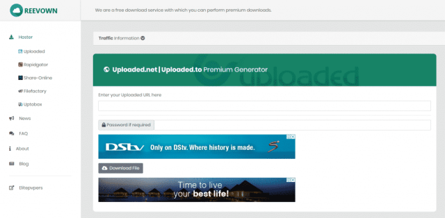 Reevown – Best Uploaded Premium Link Generator