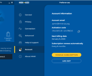 HMA Pro VPN Activation Codes v4.8.221 latest version