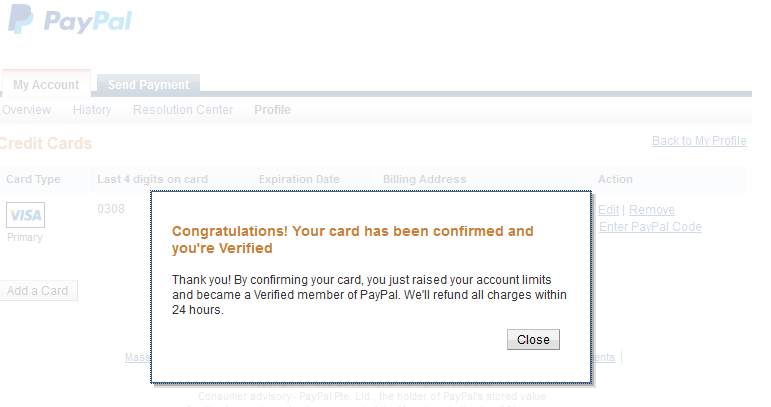 verify nigerian paypal account