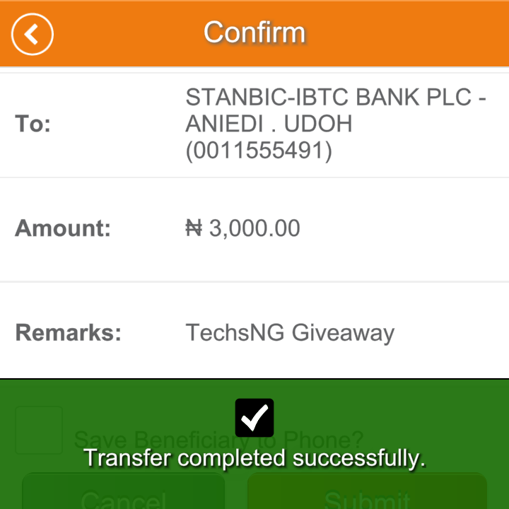 techsng giveaway winner three