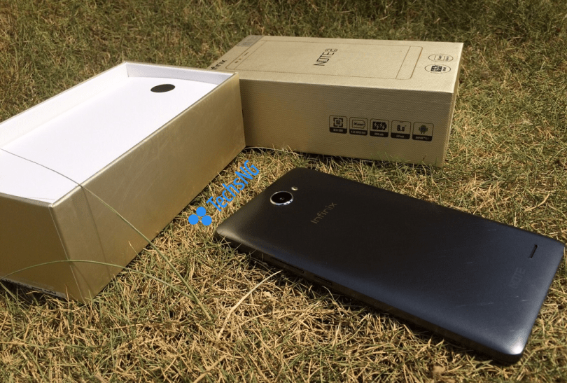 infinix note 2 phone out of box
