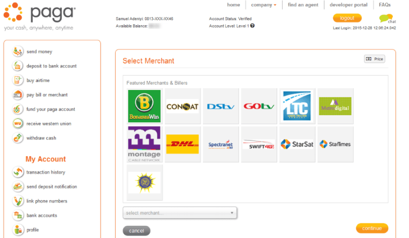 mypaga merchant with gotv