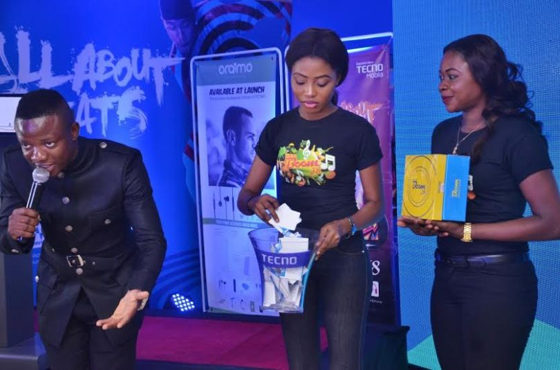 MC bash at tecno boom j8 unveiling event